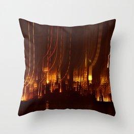 SAN FRANCISCO NIGHT TIME SKYLINE - HOLIDAY LIGHTS Throw Pillow