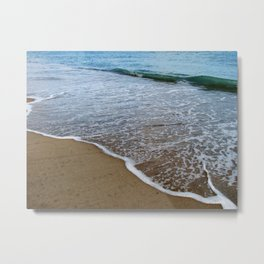 Water Meets Shore Metal Print