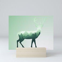 Deer Stag Elk Roe Fawn Moose Double Exposure Surreal Wildlife Animal Mini Art Print