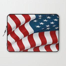 WAVY AMERICAN FLAG JULY 4TH ART Laptop Sleeve