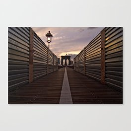 Brooklyn Bridge Walk Canvas Print