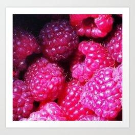 Summer with Raspberries Art Print