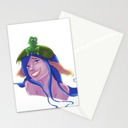 Mermaid and the frog - Ooops, sorry :) Stationery Cards