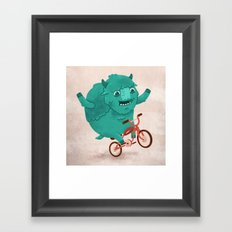 Bicycle Buffalo Framed Art Print