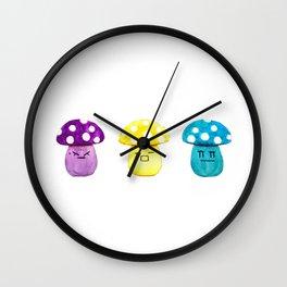 funny cute mushroom watercolor painting Wall Clock