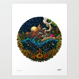 CURIOSITY - COLORED - Visothkakvei Art Print