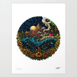CURIOSITY - COLORED - Visothkakvei Art Print