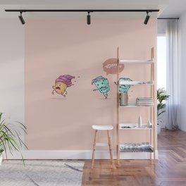 Ice cream escape ( Concept Funny Illustrations) Wall Mural