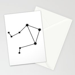 Libra Star Sign Black & White Stationery Cards