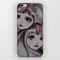 sisters iPhone & iPod Skins featuring Sisters by kaliwallace