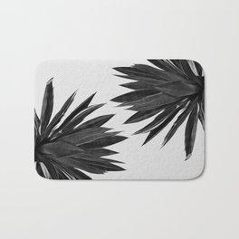 Agave Cactus Black & White Bath Mat