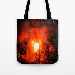 Burning Moon Tote Bag