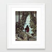 RELENTLESS CORRIDORS Framed Art Print