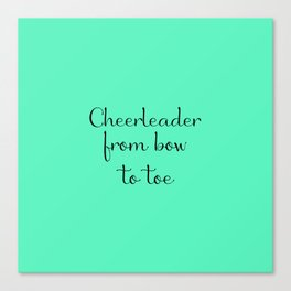 Cheerleader - Mint Canvas Print