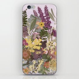 Pressed Flower English Garden iPhone Skin