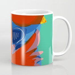 Red Birds Of Love in the Emerald Sky Coffee Mug