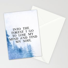 Into The Forest I Go Stationery Cards