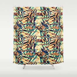 Wild Geometric Party Abstract Geo Pattern Shower Curtain