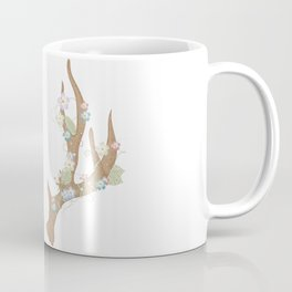 Antlers with flowers and leaves Coffee Mug