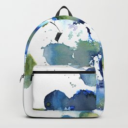 Leaves in blue and green Backpack