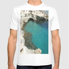 Shore MEDIUM Mens Fitted Tee White