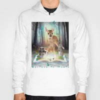 roald dahl Hoodies featuring Believe In Magic • (Bambi Forest Friends Come to Life) by soaring anchor designs