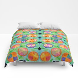 Mixed Colorful Colors in Circles Comforters