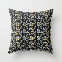 Sunflowers Floral Print Pattern Throw Pillow