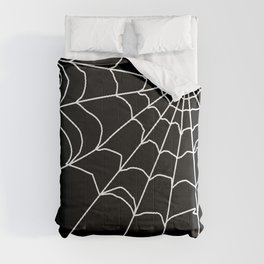 Black and white web . Comforters