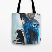 valentine Tote Bags featuring Blue Valentine by Tanya Shatseva