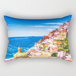 Colorful Positano Italy Rectangular Pillow
