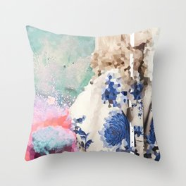 Crystal Explosions Throw Pillow