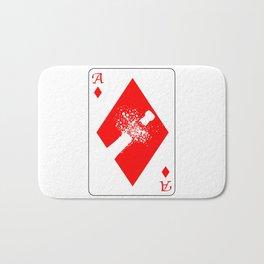 Ace of Diamonds Bath Mat