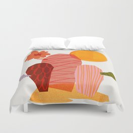 Abstraction_Cactus_&_Sun Duvet Cover