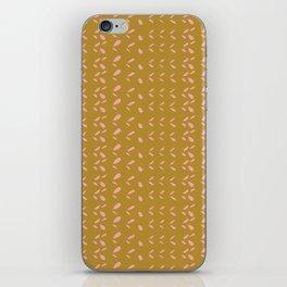 Abstract blush pink mustard yellow watercolor geometrical pattern iPhone Skin