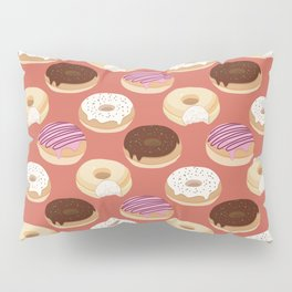 Donuts (Red) Pillow Sham