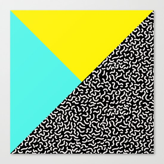 Memphis pattern 27 Canvas Print