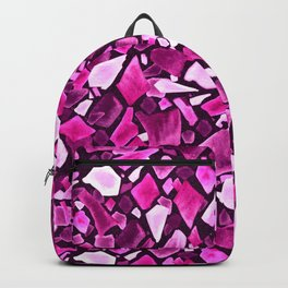 Purple And Pink Terrazzo Pattern Backpack
