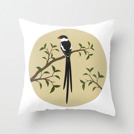 Pin-Tailed Wydah Throw Pillow
