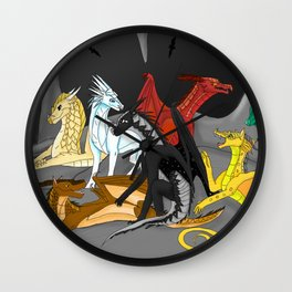 Dragon Wings Of Fire Wall Clock