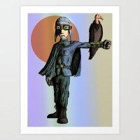 pilot Art Prints featuring Pilot by thepfunkfresh