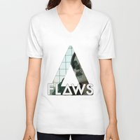 bastille V-neck T-shirts featuring Bastille - Flaws by Thafrayer