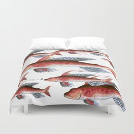 School Over Crowding Duvet Cover
