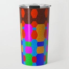 Midnight Queue (Geometric Texture) Travel Mug