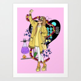 Honey Lemon Big hero six Art Print