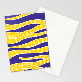 Yellow Tentacles Stationery Cards