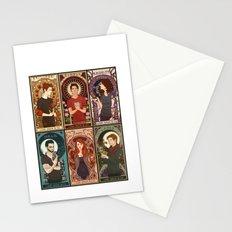 Nouveau Wolf Stationery Cards