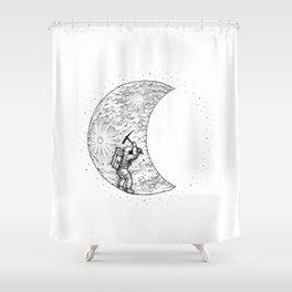 Lunar Excavation Shower Curtain