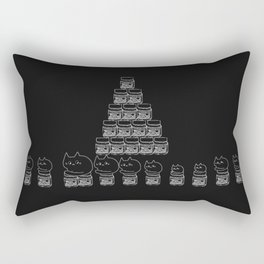 cats and nutella 585 Rectangular Pillow