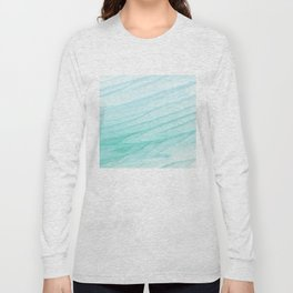 Seawall-blue and white Long Sleeve T-shirt